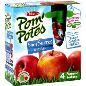 Compote de Pomme Sans Sucre Ajouté Pom'Potes