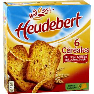 Biscottes 6 Céréales 34 Tranches Heudebert