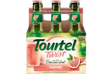 Bière Blonde Sans Alcool au Jus d'Agrumes Twist Tourtel
