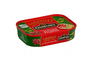 Sardines à l'Huile d'Olive et Piment d'Espelette Connétable