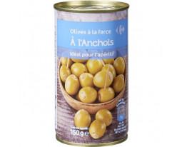 Olives Vertes Farcies aux Anchois Carrefour