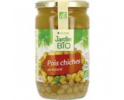 Pois Chiches au Naturel Bio Jardin Bio