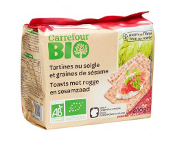 Tartines Croustillantes Seigle Bio Carrefour