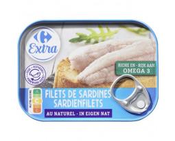Filets de Sardines au Naturel Carrefour