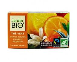 Thé Vert Orange et Bergamote Bio Jardin Bio