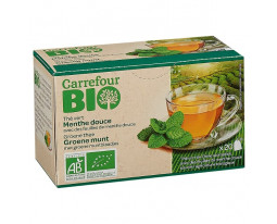 Thé Vert Menthe Douce Bio Carrefour