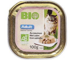Terrine pour Chat au Saumon Bio Grand Jury