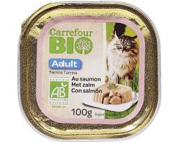 Terrine pour Chat au Saumon Bio Carrefour