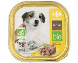 Terrine pour Chien au Poulet et Légumes Bio Carrefour
