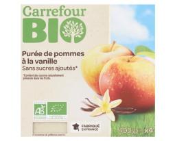 Compote de Pomme et Vanille Bio Carrefour