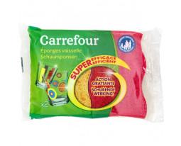 Eponges Faces Absorbante et Grattante Carrefour