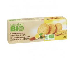 Sablés Amande Citron Bio Carrefour