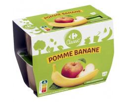 Compote de Pomme et Banane Carrefour