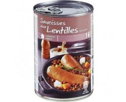 Saucisses aux Lentilles Cuisinées Grand Jury