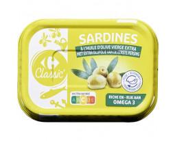 Sardines à l'Huile d'Olive Vierge Extra Carrefour