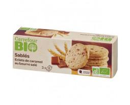 Sablés aux Eclats de Caramel et Beurre Salé Pocket Bio Carrefour