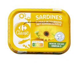 Sardines à l'Huile de Tournesol Carrefour