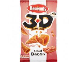 Biscuits Apéritifs Bugles Bacon 3D Bénénuts