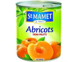 Abricots Demi Fruit au Sirop Saint Mamet