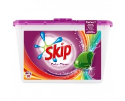 Lessives Tout en 1 Capsules Color Clean Skip