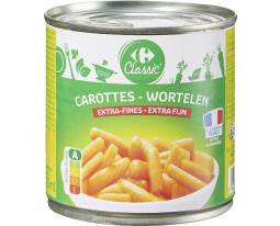 Carottes Extra Fines Carrefour