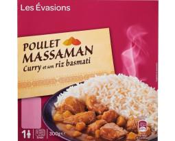 Poulet au Curry Massaman et Riz Basmati Carrefour