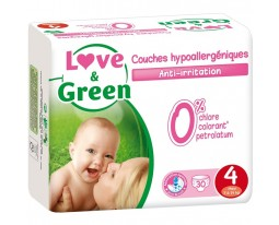 Couches Maxi Hypoallergeniques T4 Love&Green