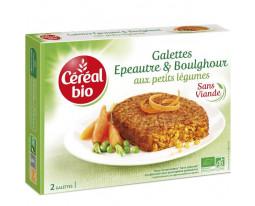Galettes Epeautre et Boulghour aux Petits Légumes Bio Céréal Bio