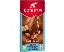 Chocolat au Lait et Amandes Côte d'Or