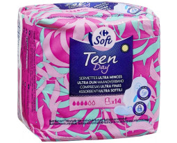 Serviette Hygiénique Ultra Mince Teen Day Carrefour