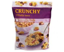 Muesli Croustillant aux 5 Fruits Crunchy Grand Jury