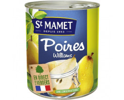 Poires William Demi Fruit au Sirop Saint Mamet