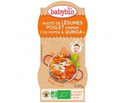 Mijoté de Légumes Poulet Fermier et Quinoa Bio Dès 12 Mois Babybio