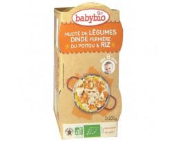 Mijoté Légumes Dinde et Riz Bio Dès 8 Mois BabyBio