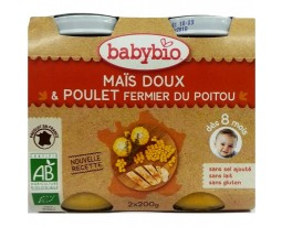 Mais Doux Poulet Fermier du Poitou Dès 8 Mois BabyBio
