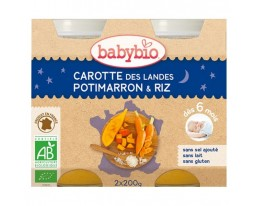 Carotte des Landes Potimarron Riz Bio Dès 6 Mois Babybio