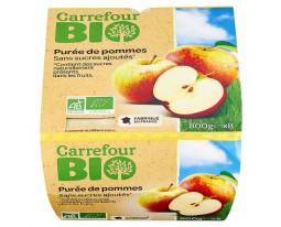 Compote de Pomme Sans Sucres Ajoutés Bio Carrefour