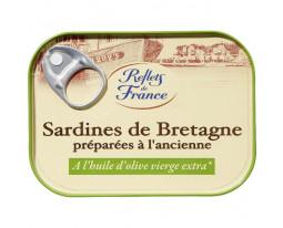 Sardines de Bretagne Huile d'Olive à l'Ancienne Reflets de France