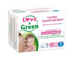 Couches Junior Hypoallergéniques T5 Love&Green