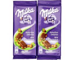 Chocolat au Lait et aux Noisettes Entières Milka