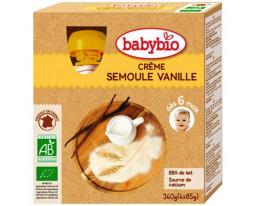 Crème Semoule Vanille Bio dès 6 Mois Babybio
