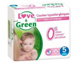 Couches Junior Hypoallergeniques T5 Love&Green