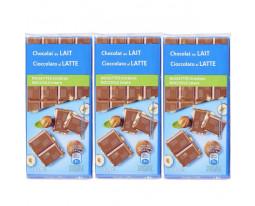 Chocolat au Lait et aux Noisettes Entières Carrefour