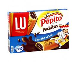 Biscuits Fourrés au Chocolat au Lait Pocket Pockitos Pépito Lu