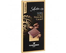 Chocolat Noir aux Eclats de Fèves de Cacao Caramélisés Carrefour Sélection