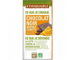 Chocolat Noir Bio aux Zests d'Orange Confits Ethiquable