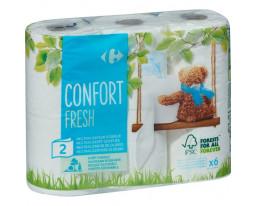 Papier Toilette Confort Doux 2 Feuilles Carrefour