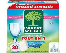Tablettes Lave Vaisselle Eco Tout-en-1 Arbre Vert