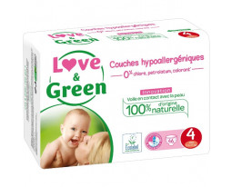 Couches Maxi Hypoallergéniques T4 Love&Green