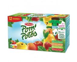 Compote Panachage Pomme, Fraise, Poire, Abricot Pom'Potes